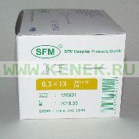 SFM Игла одноразовая инъекционная стерильная 30G (0,3 х 13 мм) [100шт/уп]