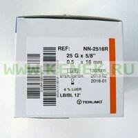 Terumo Neolus Игла одноразовая инъекционная стерильная 25G (0,5 х 16 мм) тонкая стенка