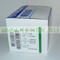 Terumo Neolus Игла одноразовая инъекционная стерильная 21G (0,8 х 16 мм)