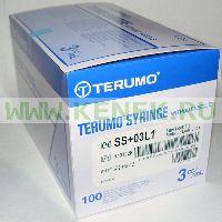 Terumo Шприц (3-х комп.) 3мл, без иглы, Luer Lock [100шт/уп]
