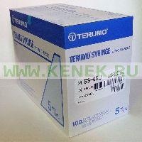 Terumo Шприц (3-х комп.) 5мл, без иглы, Luer Lock [100шт/уп]